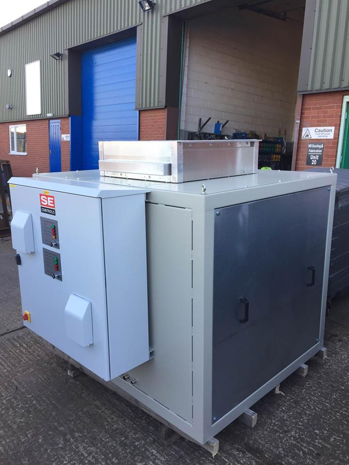 <h2>Smoke Extraction Fans </h2><p>These smoke extraction fans and enclosures were installed at a Staffordshire University campus.</p>