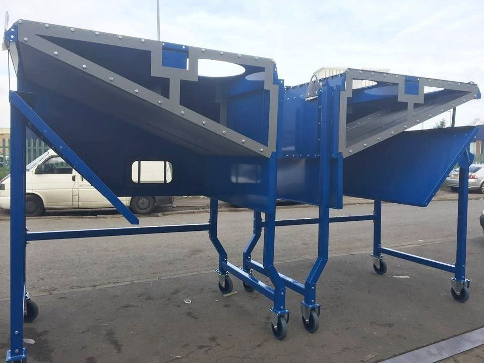 <h2>Separators </h2><p>We manufactured these Separators for one of our valued customers. They are used for separating cardboard and recycling.</p>